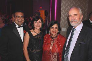 Event Vice-Chair Vik Khanna, Richa Khanna, Ratana and Arran Stephens