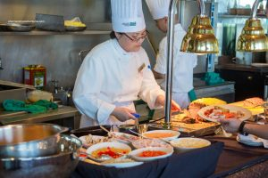 Grace Wu at the Carving Station (Aug 21, 2014)