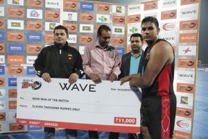 Man of the Match and stopper of the match- Yadwinder Singh Surakhpur of Punjab Thunder