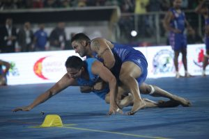 Players of United Singhs and California Eagles in Action during the WKL Semi Final 2 match today in Mohali (4)