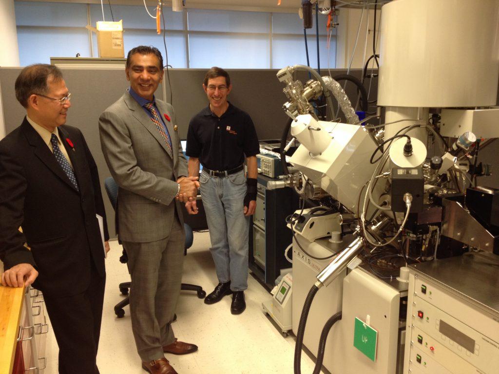 amrik virk SFU's XPS (X-ray photoelectron spectrometer) lab