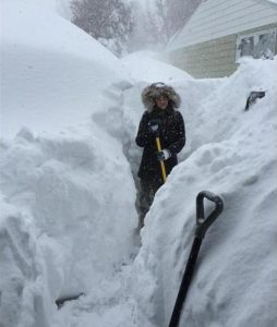 snow storm brought five feet of snow to Lancaster New York Nov 18, 2014 ...Image credit.. Melinda Stoldt via Facebook.