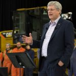 Prime Minister Stephen Harper makes an announcement at the British Columbia Institute of Technology Annacis Campus regarding the Canada Apprentice Loan Program. (PMO Photo by Jason Ransom)