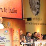 Indian Prime Minister, Narendra Modi delivering the inaugural address to the Indian Diaspora at the Pravasi Bharatiya Divas 2015, in Gandhinagar, Gujarat on January 08, 2015.