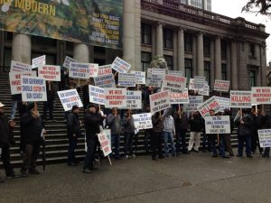 UTA protest at Vancouver Art Gallery
