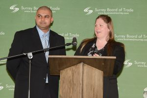 Cst. Raj Kumar and Cst. Amber Briggs of the Economic Crime Unit of the Surrey RCMP.  Photos by Ray Hudson