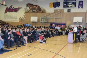 Participants ar Crime Forum at Tamanawis School in Surrey Photo: Ray Hudson