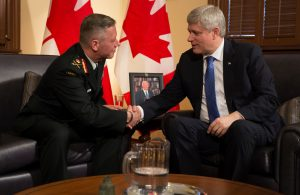 Prime Minister Stephen Harper announces the upcoming appointment of Lieutenant-General Jonathan Vance as the new Chief of the Defence Staff  Photo: PMO photo by Jason Ransom