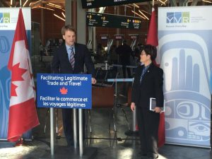 Canada's Citizenship and Immigration Minister Chris Alexander at YVR Vancouver Photo Courtesy: CIC