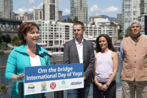 Charisty at burrard Vancouver international yoga day