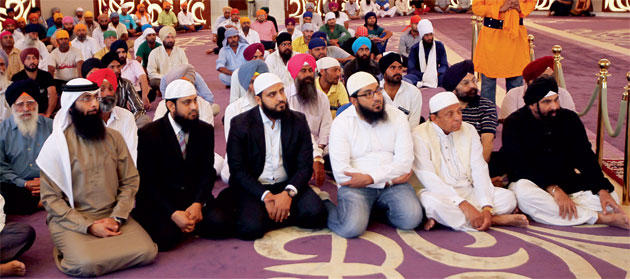 gurudwara in Jebel Ali organised the iftar for Muslims