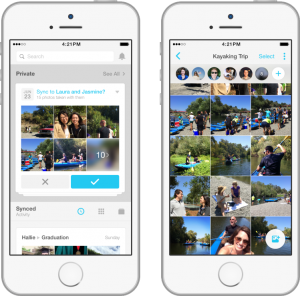 Moments- the new app by face book Photo credit: Face book