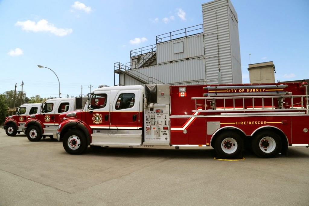 New fire trucks for Surrey Fire Service Photo: Ray Hudson