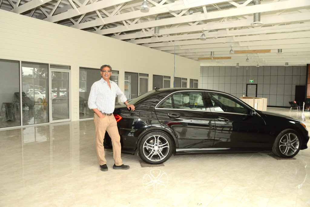 Ajit Hare, President of Hare Motors at his new showroom which is almost ready to display cars.  Photo: Ray Hudson