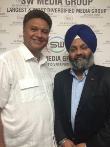 Inder Iqbal Singh Atwal with SW Media CEO Lucky Randhawa