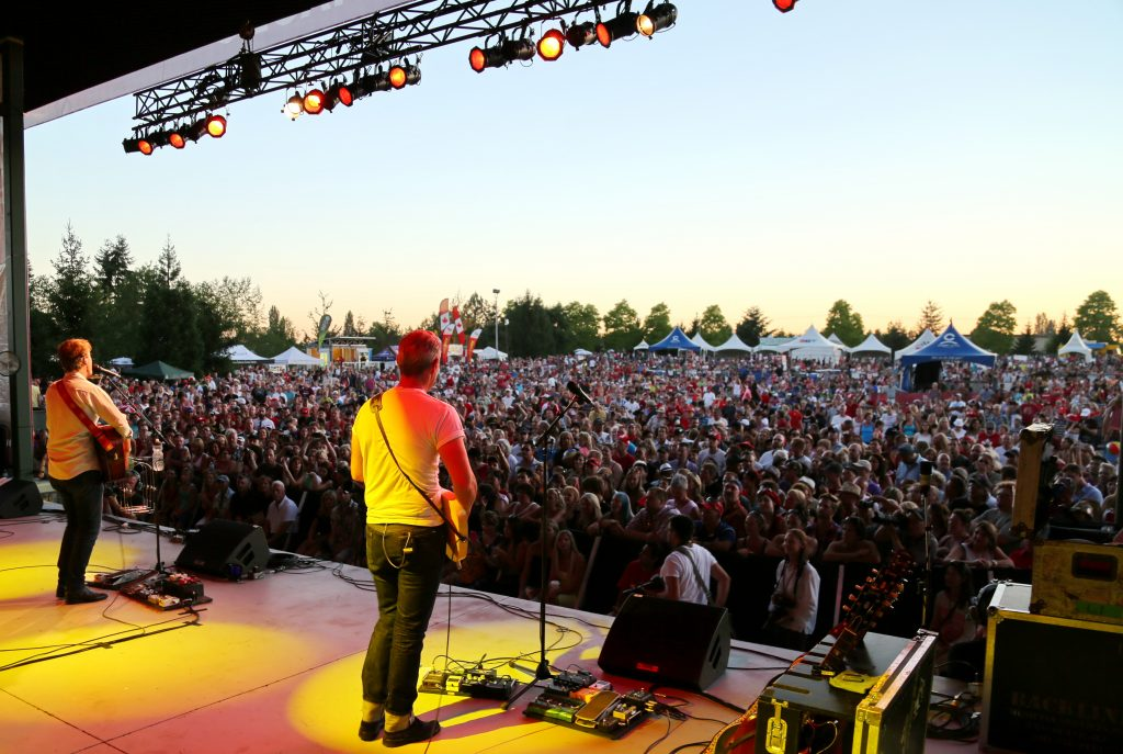 Blue Rodeo performs before a packed crowd at Surrey's Canada Day Celebration.  Phot: Submitted