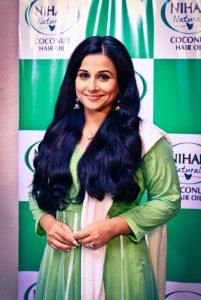 Vidya Balan on the sets of Nihar Naturals judgement music video
