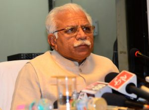 File photo of Haryana Chief Minister Manohar Lal Khattar