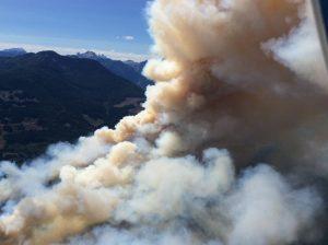 File photo of Wood Lake Fire on Aug 4, 2015. Photo Courtesy: BCWildfire