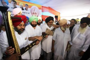 Capt Amarinder at Issru rally on Aug 16. Photo: Submitted