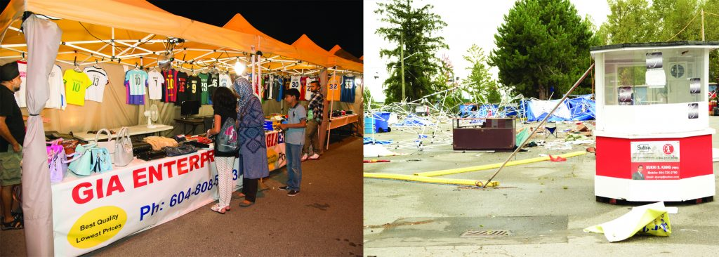 In a matter of less than an hour, the Surrey Night Market was transformed from a magical space to a colossal mess. Photo: Ray Hudson