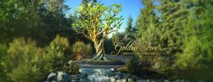 golden tree monument