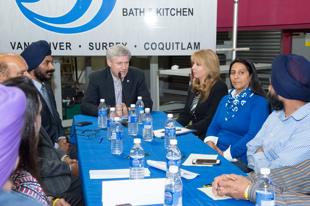 Harper with surrey candidates