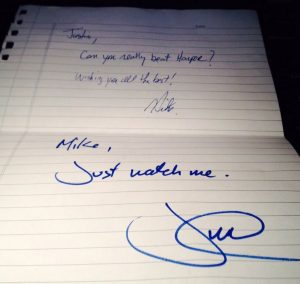 Justin Trudeau's 2013 'Just watch me' note fetches $12,000 on eBay