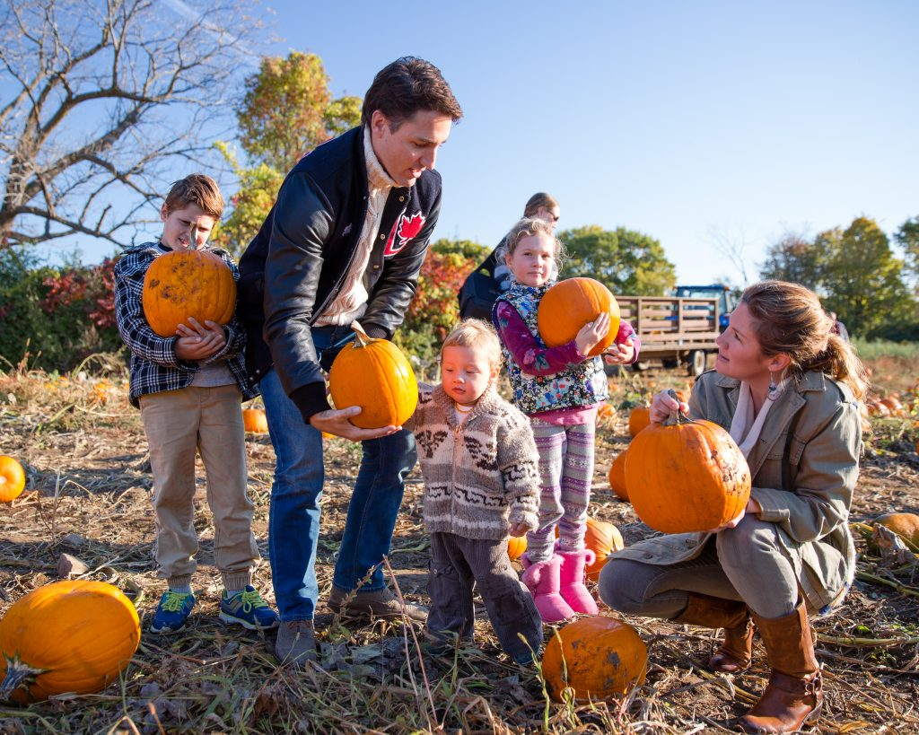 Trudeau family celebrates Thanksgiving in Gatineau October 12, 2015.