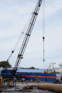 crane at ferry