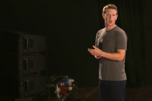 New Delhi: Facebook Inc. founder Mark Zuckerberg during a Q&A session with IIT students in New Delhi on Oct 28, 2015. (Photo: Amlan Paliwal/IANS)