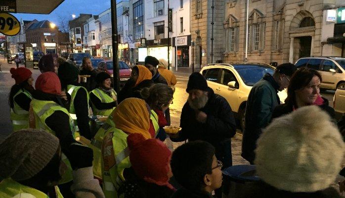 sikhs langar in Britain town