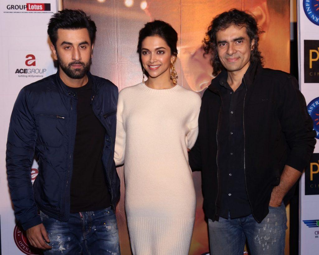"New Delhi: Filmmaker Imtiaz Ali with actors Deepika Padukone and Ranbir Kapoor during a press conference to promote their upcoming film ""Tamasha"" in New Delhi, on Nov 23, 2015. (Photo: Amlan Paliwal/IANS)"