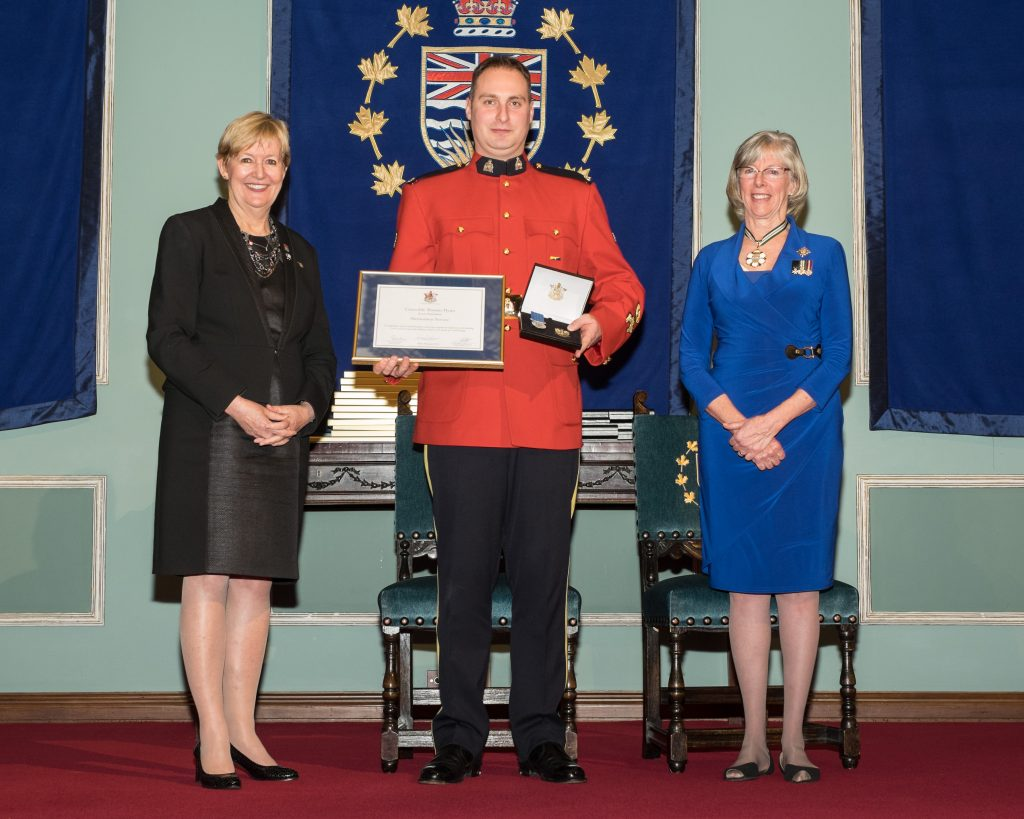 BC's 35th annual Police Honours Night recognizes 66 outstanding officers. In all, 22 officers receive award of valour, the highest award for a police officer in BC.   Constable Thomas Flynn, Royal Canadian Mounted Police
