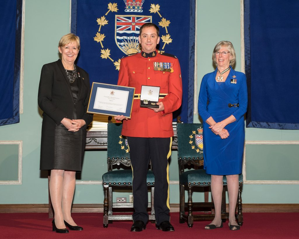 BC's 35th annual Police Honours Night recognizes 66 outstanding officers. In all, 22 officers receive award of valour, the highest award for a police officer in BC.   Constable Michael Scoretz, Royal Canadian Mounted Police