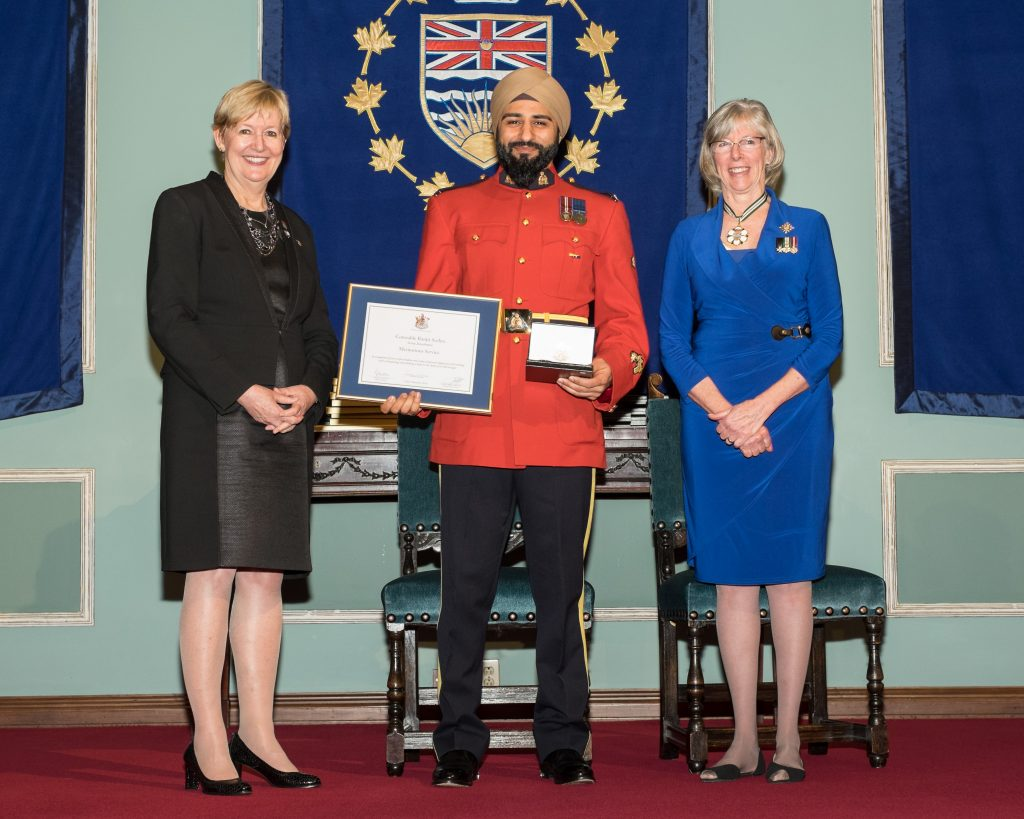 BC's 35th annual Police Honours Night recognizes 66 outstanding officers. In all, 22 officers receive award of valour, the highest award for a police officer in BC.   Constable Ranjit Seehra, Royal Canadian Mounted Police