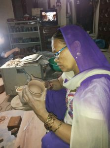 Potters in Kumhar Gram preparing for the festival of lights