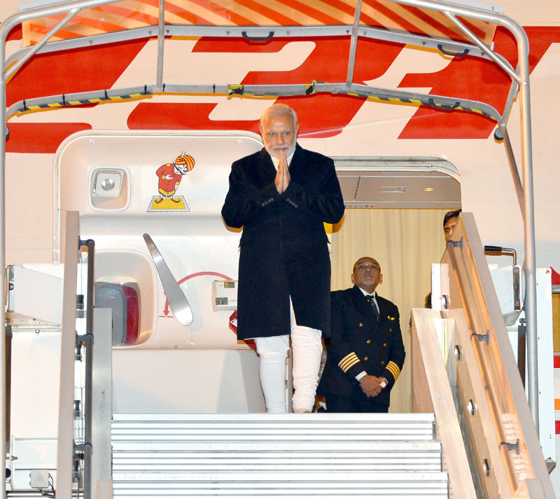 File photo of Indian Prime Minister  Narendra Modi when he arrives in Paris to join COP21 Summit on November 30, 2015.