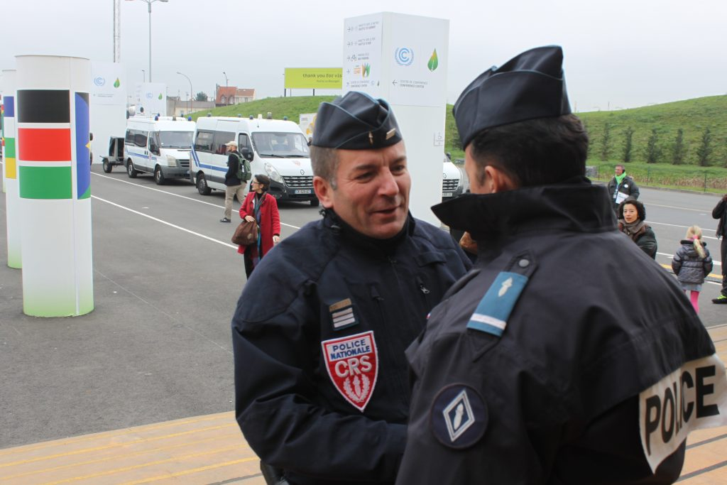Police presence in the last couple of days of CoP21 has been sharply stepped up. Photo: IANS