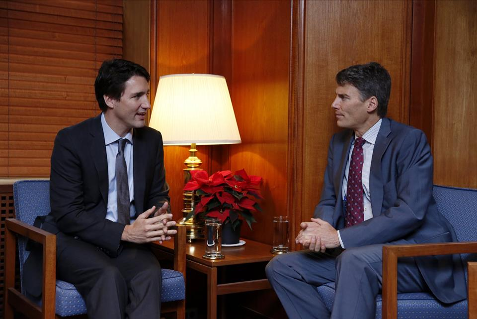 Trudeau and robertson meeting