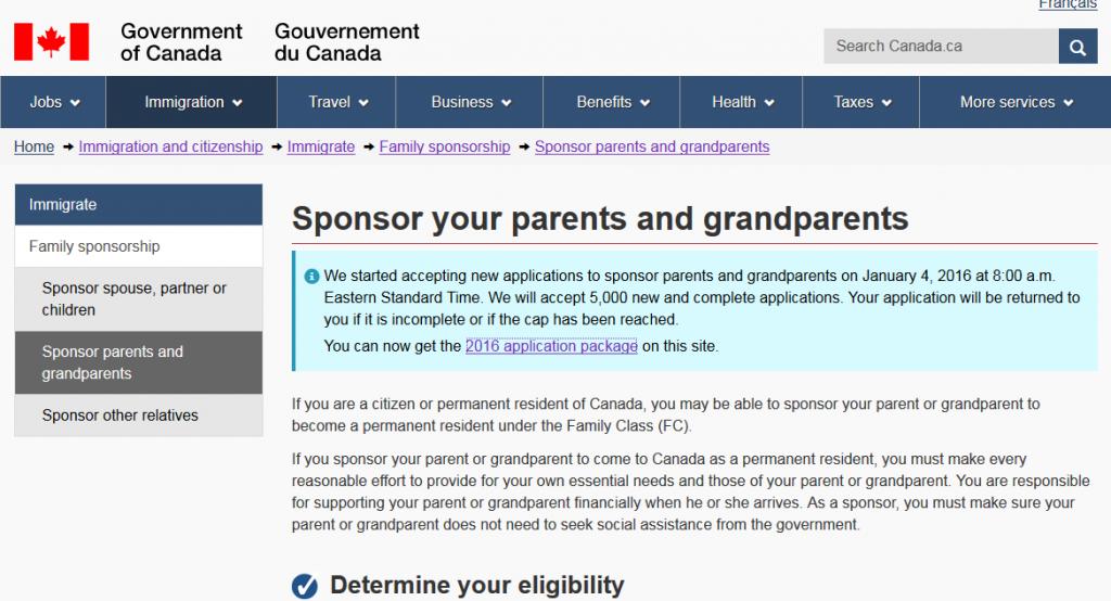 Screenshot of CIC website