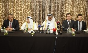 Energy ministers of Qatar, Saudi Arabia, Venezuela and Russia