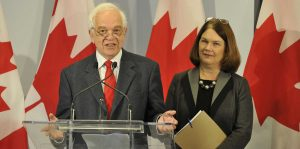 John McCallum, Minister of Immigration, Refugees and Citizenship and Jane Philpott, Chair of the Ad Hoc Cabinet Committee on Refugees and Minister of Health provide a year-end update on Canada's plan to resettle 25,000 Syrian refugees – Mississauga, ON