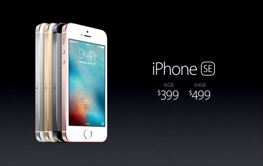 Apple launches smaller yet powerful 4-inch iPhone SE. (Photo: Twitter) *prices shown in the picture are in US Dollars.