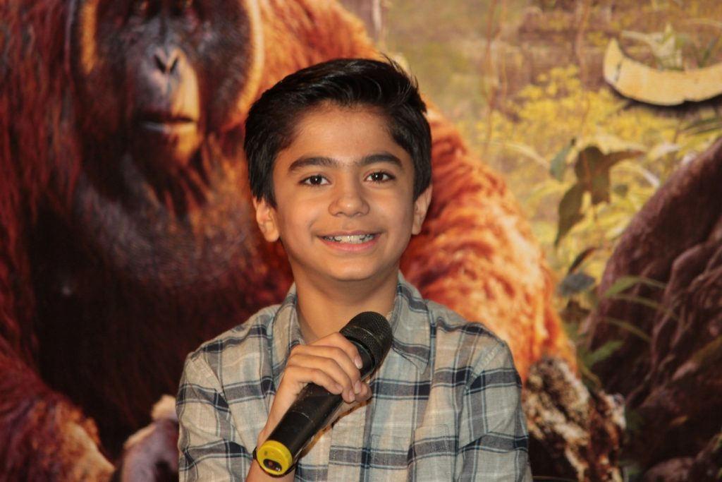Mumbai: Hollywood actor Neel Sethi during the press conference of film The Jungle Book in Mumbai, on March 28, 2016. (Photo: IANS)