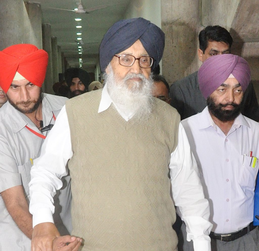 Punjab Chief Minister Parkash Singh Badal. (File Photo: IANS)