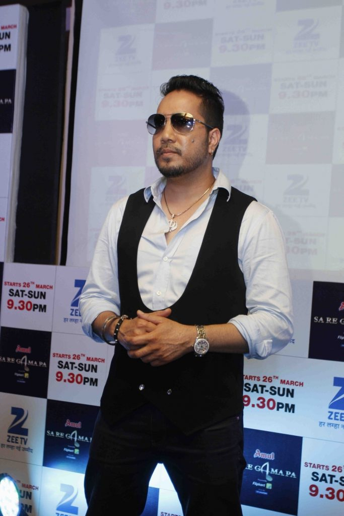 Mumbai: Singer Mika Singh perform during the press conference of the Zee TV latest season of Sa Re Ga Ma Pa in Mumbai on March 2, 2016. (Photo: IANS). (Photo: IANS)