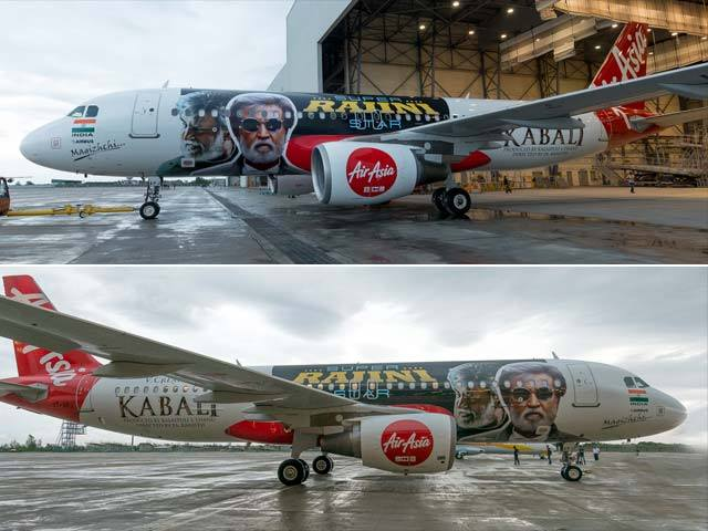 Kabali Poster on Malasian Airline