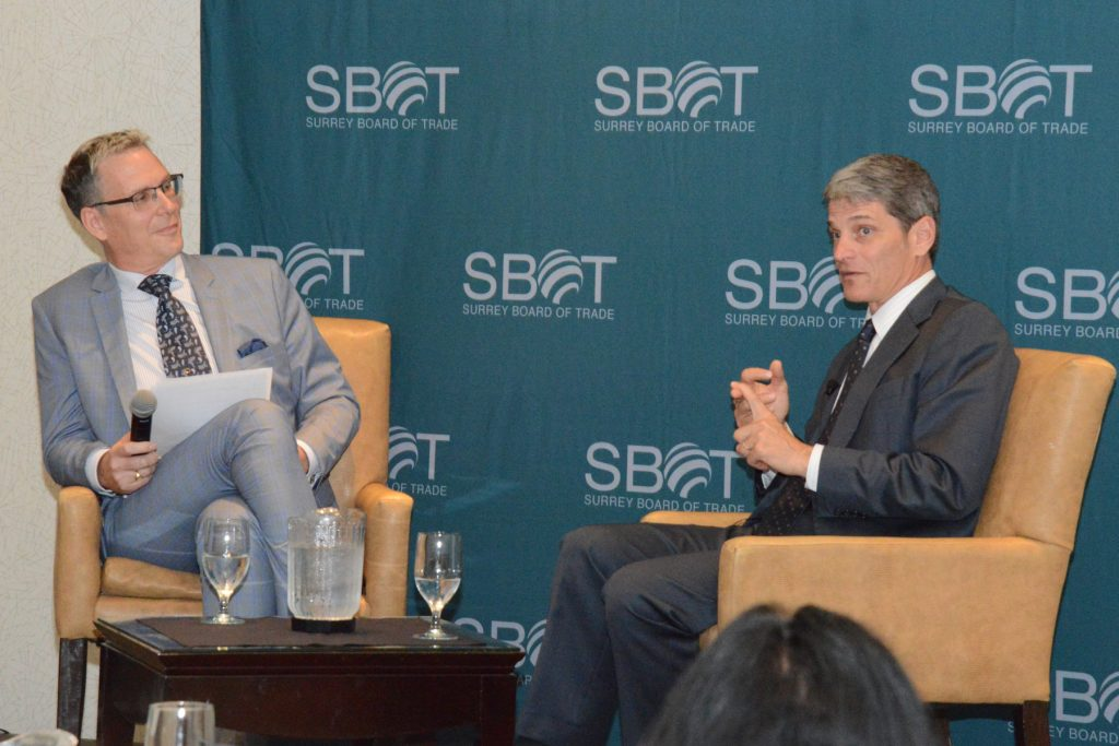 : Kevin Desmond appointed Translink CEO March 2016 speaks with Greg Thomas of the Surrey Board of Trade.