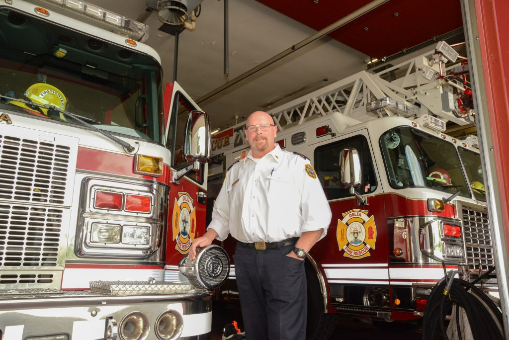 Brad Wilson, Deputy Chief of Operations for Delta FD. Photo: Ray Hudson